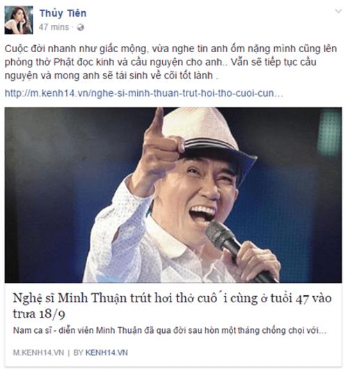 Nghệ sĩ Việt tiếc thương sự ra đi của ca sĩ Minh Thuận - Ảnh 7