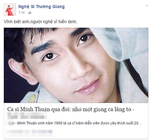 Nghệ sĩ Việt tiếc thương sự ra đi của ca sĩ Minh Thuận - Ảnh 2