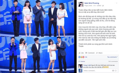 Nghệ sĩ Việt tiếc thương sự ra đi của ca sĩ Minh Thuận - Ảnh 8