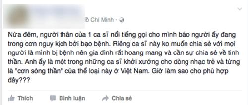 Ca sỹ Minh Thuận bị ung thư, hiện đang tai biến - Ảnh 1