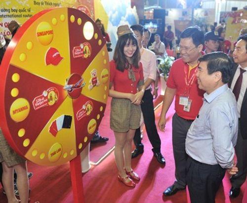 Vietjet nổi bật tại Hội chợ du lịch quốc tế TP.HCM 2016 - Ảnh 2