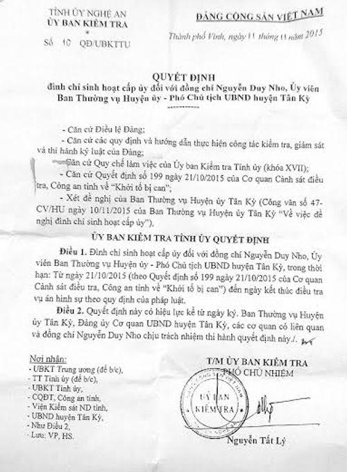Thông tin mới nhất vụ Phó Chủ tịch huyện Tân Kỳ bị bắt vì đánh bạc - Ảnh 1