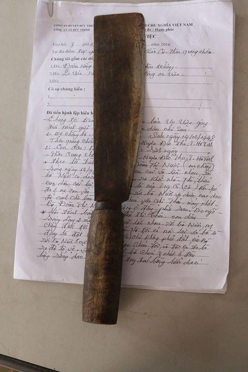 Mâu thuẫn, mẹ chồng dùng dao chém con dâu bị thương - Ảnh 1