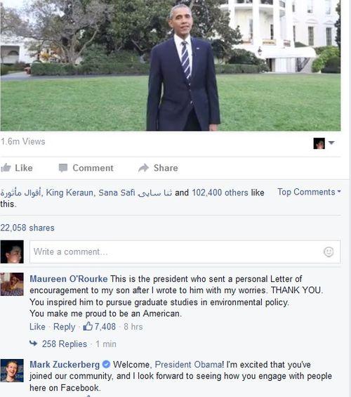 """Tổng thống Obama tạo trang Facebook thu hút hàng trăm nghìn """"like"""" - Ảnh 1"""