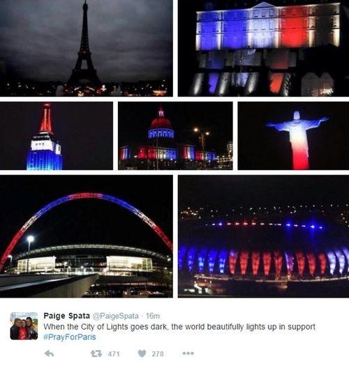 Vụ khủng bố ở Paris: Cả thế giới cầu nguyện cho nước Pháp - Ảnh 2