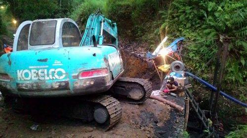 Cận cảnh hiện trường vụ sập hầm khai thác than tại Hòa Bình - Ảnh 3