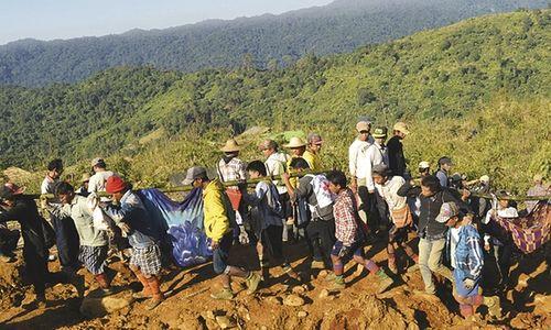 Vụ lở đất tại Myanmar: Số người thiệt mạng tăng lên 113 - Ảnh 1