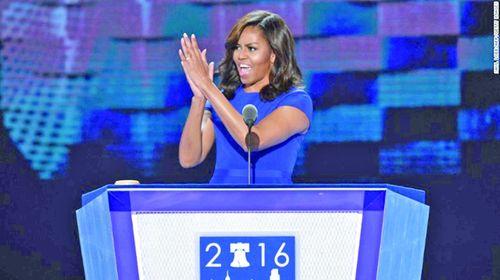 Michelle Obama 5 lần ngầm công kích Trump trong bài phát biểu ủng hộ Clinton - Ảnh 1