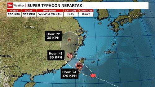 Đài Loan báo động vì siêu bão Nepartak gần Biển Đông - Ảnh 1