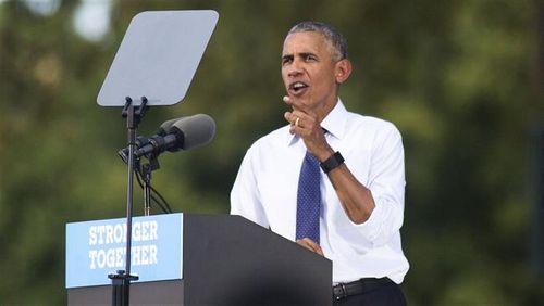 Obama vận động tranh cử Tổng thống Mỹ thay bà Clinton đang ốm - Ảnh 1