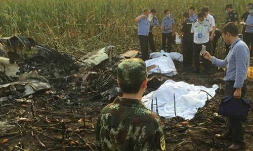 Máy bay trình diễn Trung Quốc lao xuống đồng, cả đội bay tử nạn - Ảnh 1