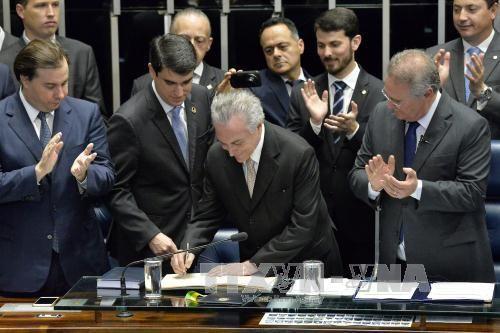 Biểu tình phản đối tân Tổng thống Brazil - Ảnh 1