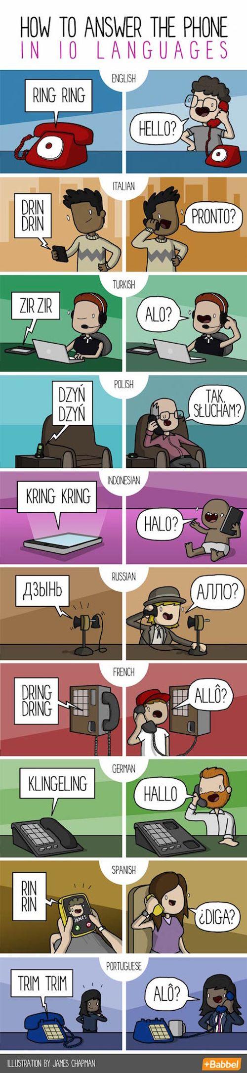 Lời chào qua điện thoại bằng các ngôn ngữ khác nhau - Ảnh 1