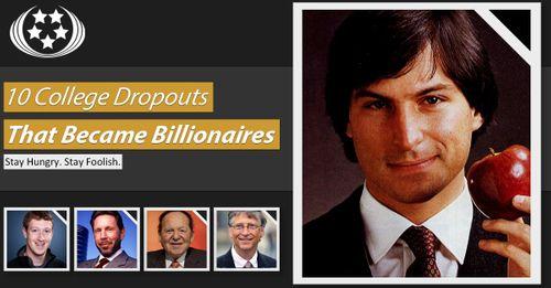 10 nhà tỷ phú không học xong đại học - Ảnh 1