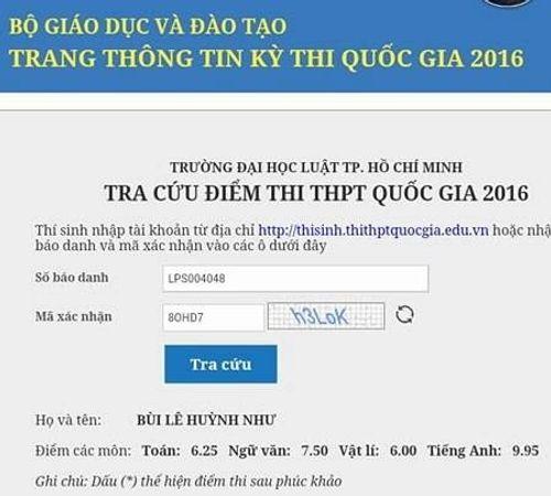 Đại học Luật TP. HCM bị nhầm điểm 1.567 bài thi tiếng Anh - Ảnh 2