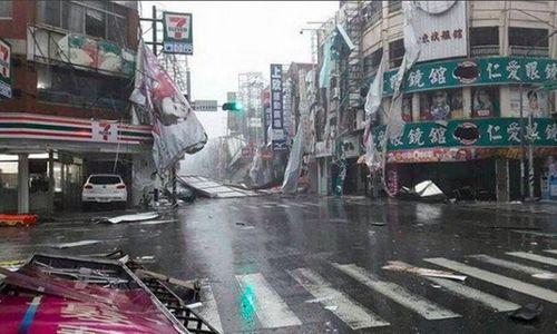 Đài Loan tan hoang vì siêu bão Nepartak đổ bộ - Ảnh 4