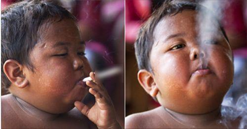 Thân hình 3 năm sau của cậu bé 5 tuổi hút 40 điếu thuốc - Ảnh 1