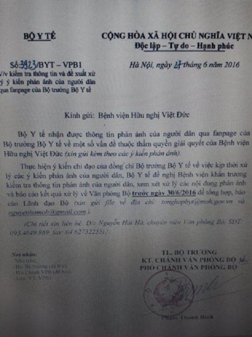 Bộ Y tế vào cuộc vụ người dân tố bác sỹ bệnh viện vô cảm trên facebook Bộ trưởng - Ảnh 2