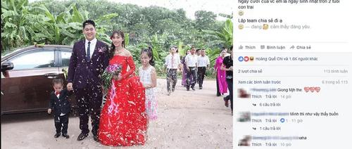 Thách thức thị phi, cặp đôi chờ con 2 tuổi rồi mới tổ chức lễ cưới - Ảnh 1