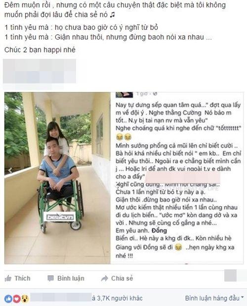 Chàng trai cụt chân tìm thấy tình yêu đẹp nhờ Facebook - Ảnh 1