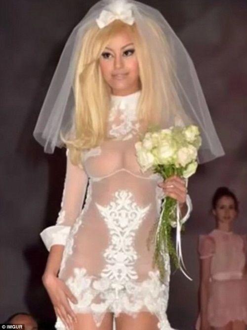 Những bộ áo cưới thảm họa nhất trong lịch sử thời trang - Ảnh 10