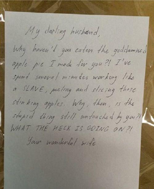 Những bức thư hài không đỡ nổi của các cặp vợ chồng - Ảnh 4