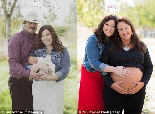 Bà ngoại 48 tuổi sinh cháu trai giúp con gái bị dị tật vô sinh - Ảnh 1