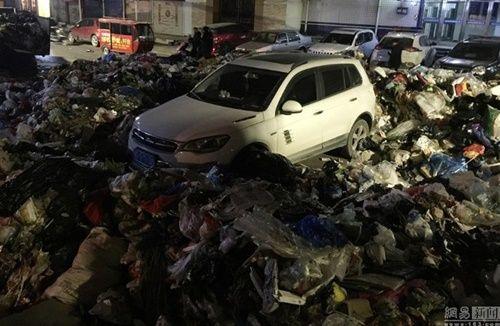 Xe ô tô đỗ trái phép trước trạm rác và kết quả 'nặng mùi' - Ảnh 3