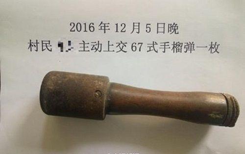 Hoảng hốt khi phát hiện chiếc chày dùng bao lâu nay là một quả lựu đạn - Ảnh 1