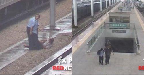 Bất ngờ với lý do người đàn ông bị đẩy ngã vào đường ray khi tàu đang chạy - Ảnh 1