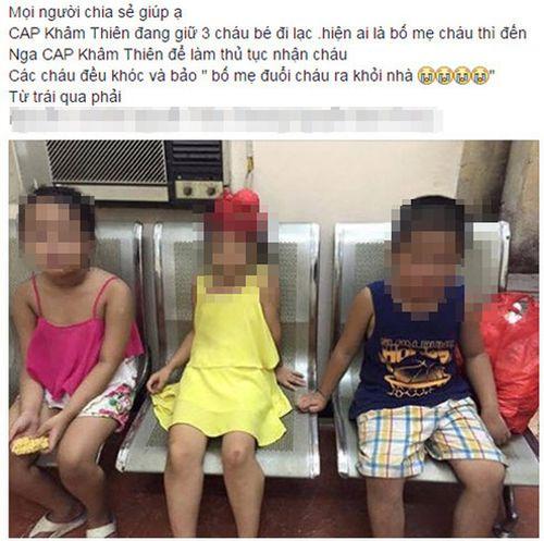 3 đứa trẻ từ 5 đến 8 tuổi mang quần áo, mỳ tôm bỏ nhà ra đi - Ảnh 1
