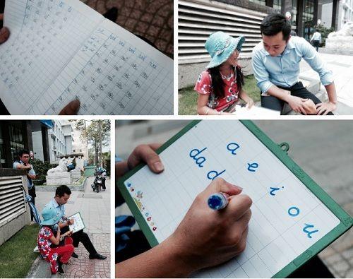 Anh nhân viên ngân hàng dành giờ nghỉ trưa dạy chữ cho cô bé vé số ngay trên vỉa hè Sài Gòn - Ảnh 1