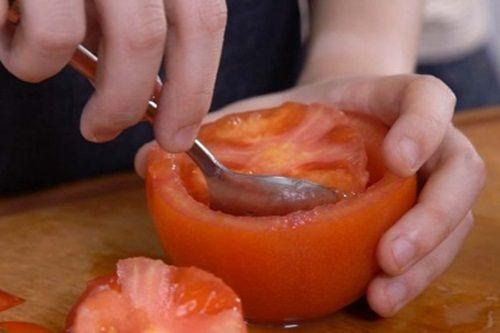 Hấp dẫn món cà chua nướng nhồi ớt chuông và diêm mạch - Ảnh 5