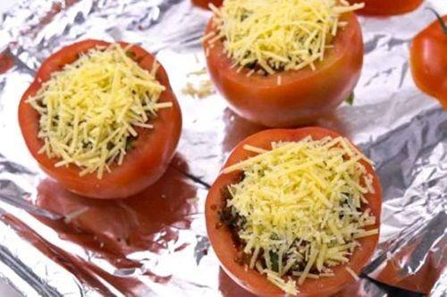 Hấp dẫn món cà chua nướng nhồi ớt chuông và diêm mạch - Ảnh 7