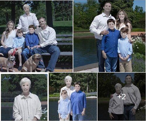 Ngã ngửa với bức ảnh gia đình bị nhiếp ảnh gia photoshop quá đà - Ảnh 1
