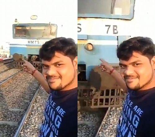 Khủng khiếp cảnh bị đoàn tàu đâm bay khi đang chụp ảnh tự sướng - Ảnh 2