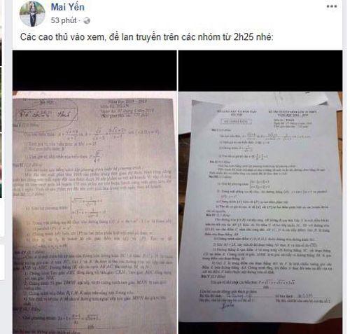 Vụ lọt đề thi Văn, Toán lớp 10 tại Hà Nội ra ngoài: Do thầy giáo chụp ảnh tung lên mạng - Ảnh 2