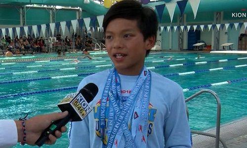 Cậu bé 10 tuổi phá kỷ lục thế giới của kình ngư Michael Phelps - Ảnh 1