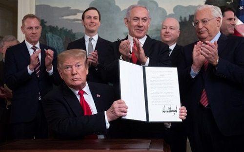 Ông Trump ký sắc lệnh công nhận cao nguyên Golan thuộc chủ quyền của Israel - Ảnh 1