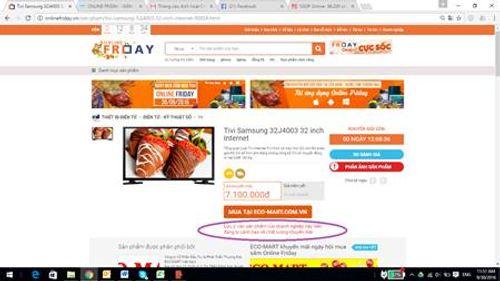 Người tiêu dùng phản ánh khuyến mại ảo trong ngày mua sắm online - Ảnh 1