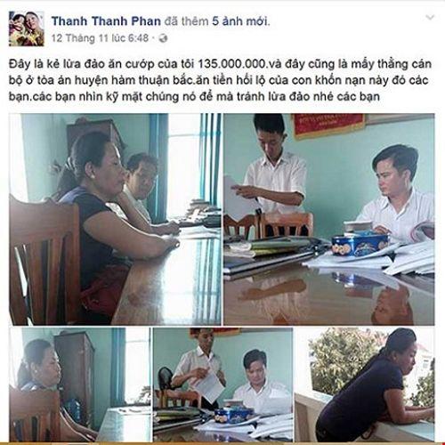 Thua kiện, người phụ nữ lên Facebook vu khống cán bộ tòa nhận hối lộ - Ảnh 1
