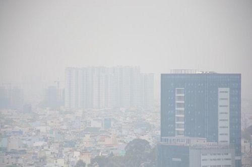 Đầu giờ chiều, TP HCM vẫn chìm trong sương mù - Ảnh 1