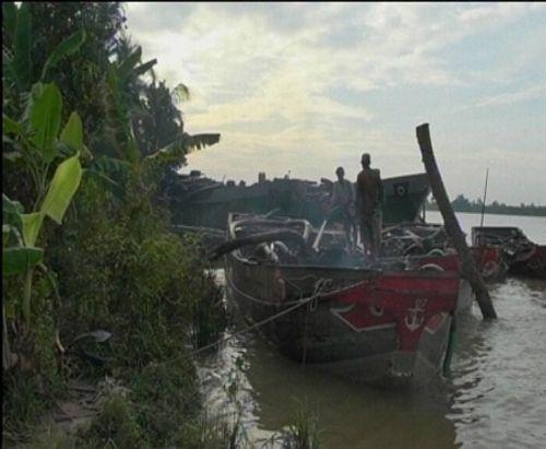 """Bến Tre: Phạt nặng """"cát tặc"""" trên sông Hàm Luông - Ảnh 3"""