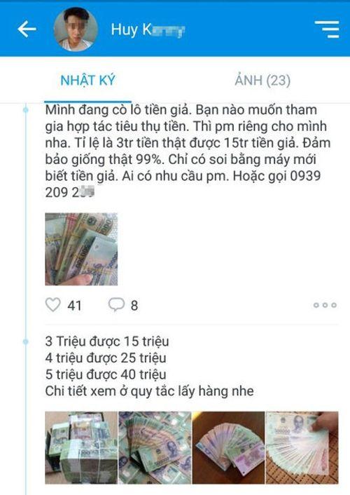 Chợ tiền giả giăng 'thiên la địa võng' trên mạng - Ảnh 1