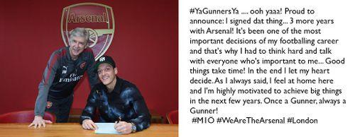 Ozil tiếp tục gắn bó với Arsenal cùng mức lương khủng - Ảnh 1