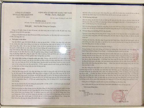 """Từ vụ cháy chung cư ở Sài Gòn, người Hà Nội sợ hãi vì chuông báo cháy chung cư bị """"câm""""? - Ảnh 2"""