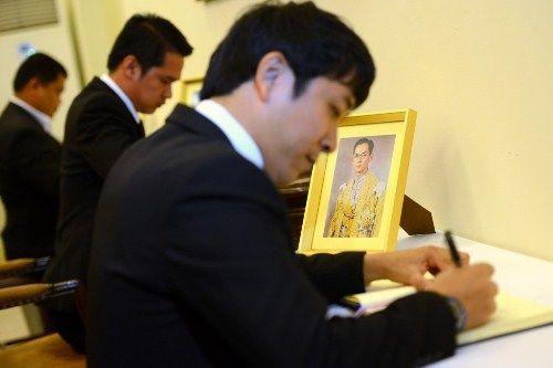 Đoàn người xếp hàng viếng nhà vua Thái Lan tại Hà Nội - Ảnh 10