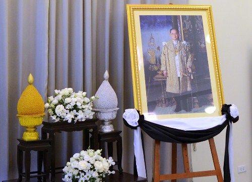 Đoàn người xếp hàng viếng nhà vua Thái Lan tại Hà Nội - Ảnh 2