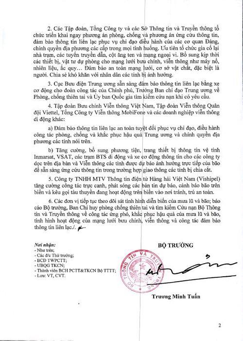 Bộ trưởng Trương Minh Tuấn yêu cầu chủ động ứng phó mưa lũ và bão Sarika - Ảnh 3