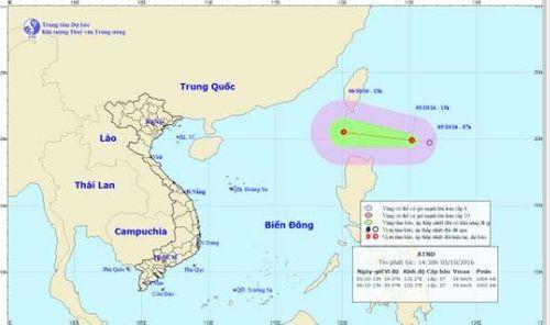 Lại xuất hiện áp thấp nhiệt đới trên Biển Đông - Ảnh 1